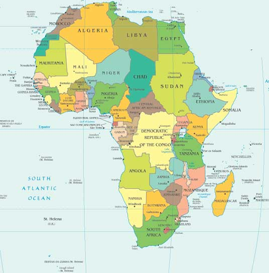 Map Of Europe And Africa And Asia